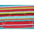 Csíkos polár pulóver (128)