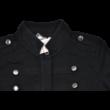 Fekete pamut kabátka (140-146)