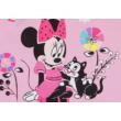 Csillogó Minnie mintás baba tipegő hálózsák.