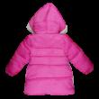 Rózsaszín lányka vasrag télikabát.