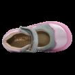 Szürke és rózsaszín tavaszi nyitott gyerekcipő.