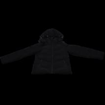 Fekete steppelt kabát (XS)