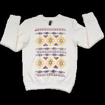 Nyers mintás pulóver (158-164)