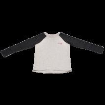 Melírozott szürke pulóver (146-152)