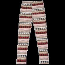 Barna mintás leggings (140)