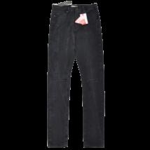 Fekete szaggatott farmernadrág (M)