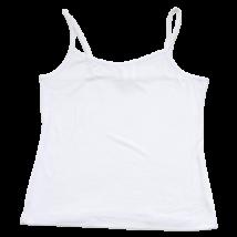 Fehér spagetti pántos trikó (134-140)