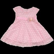 Rózsaszín csipkeruha (92-98)