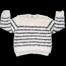 Csíkos kötött pulóver (122)