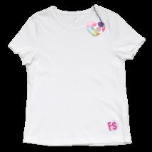 Fehér ezüst póló (146-152)