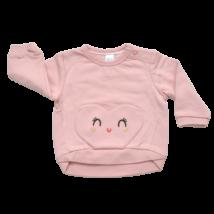 Szíves rózsaszín pulóver (68)