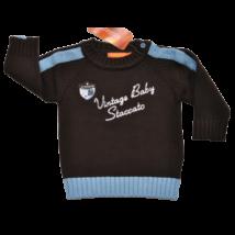 Kék gombos kötött pulóver (68)