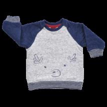Kék ujjú pulóver (62)