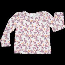 Lila virágos pamut felső (110)