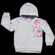 Szürke virágos pulóver (110-116)