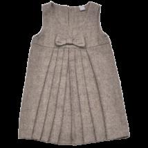 Pliszírozott barna kötényruha (86-92)