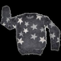 Csillag mintás szürke pulóver (134-140)