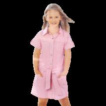 Rózsaszín öves kislány ruha (140)