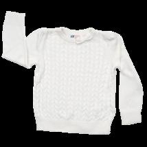 H&M fehér kötött kislány pulóver.