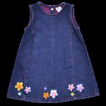 Farmer kötényruha színes virág mintával.