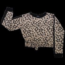 Leopárdmintás megkötős pulóver (134-140)