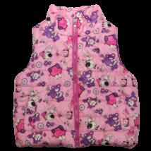 Rózsaszín macis mellény (110-116)