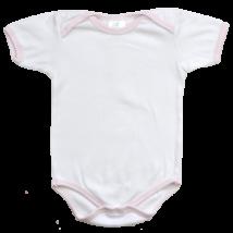 Fehér baba body rövid ujjal-86-os méretben.