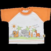 Állat mintás pamut baba póló-74