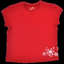Piros gyerek póló virág mintával-128