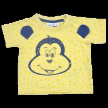 Sárga pamut gyerek póló majom mintával-68