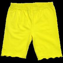 Sárga pamut rövidnadrág lányoknak.