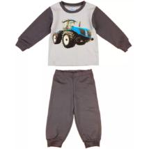 Traktor mintás fiú pizsama (98-116)