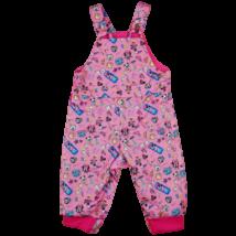Rózsaszín bélelt kantáros gyereknadrág (104)
