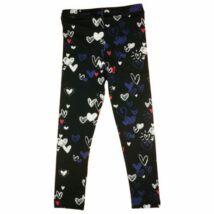 Szíves fekete leggings (116)