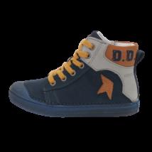 Kék-mustár fűzős cipő (31-36)