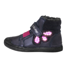 Indigókék-pink bélelt cipő (25-30)