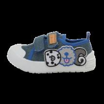 Kék kutyus mintás vászoncipő (20-25)