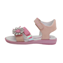 Rózsaszín-puncs virágos szandál (31-36)