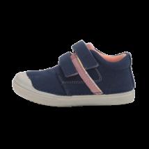 Sötétkék rózsaszín csíkos vászoncipő (31-36)