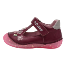 Virágos lila DDSTEP nyitott cipő (19-24)