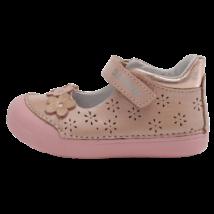 Virágos rózsaszín nyitott cipő (20-25)