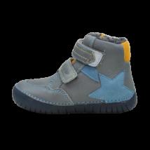 Kék csillagos bélelt világító cipő (25-30)