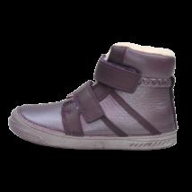Padlizsán lila csillogó bélelt cipő (31-36)