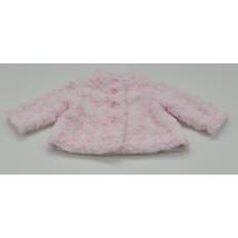 Rózsaszín műszőrme kabátka (62)