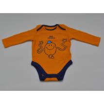 Narancs smily mintás body (68)