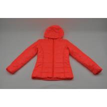 Neon-narancssárga steppelt kabát (164-170)