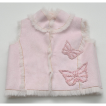 Rózsaszín műirha mellény (68)