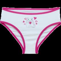Pink szélű cicás bugyi (128-158)