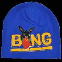 Bing nyuszi átmeneti pamut sapka kék színben fiúknak.