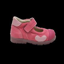 Rózsaszín szíves supinált nyitott cipő (19-20)